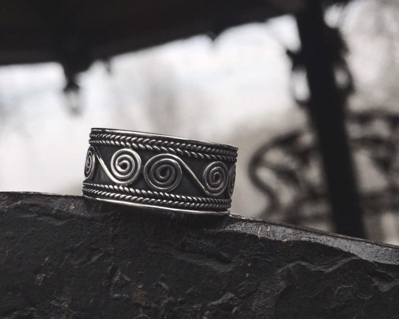 Ring Sterling Silver Braided Swirled Bali Design
