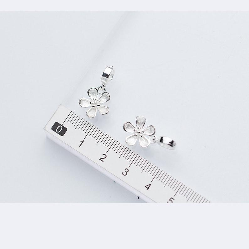 925 Silver Charms Wholesale  TGF-S0047 22mm Sterling Silver Flower Pendants 1pcs