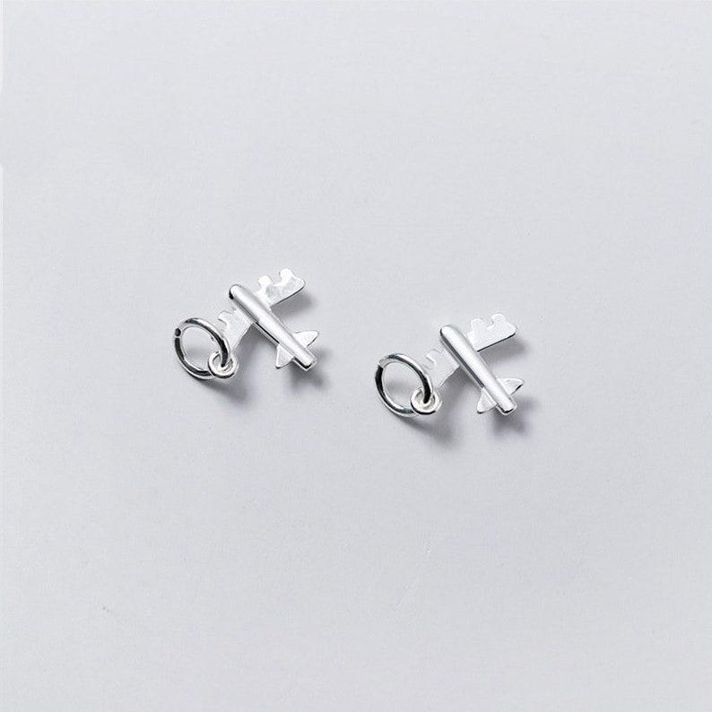 1pcs 925 Silver Charms Wholesale  TGF-s0187 12mm Sterling Silver Plane Pendants