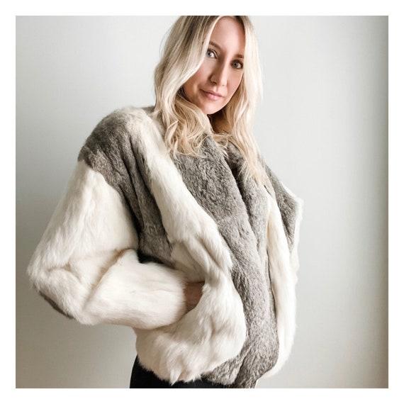 Cocoon Rabbit Fur Coat