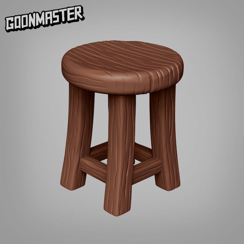 Stool and Table Set