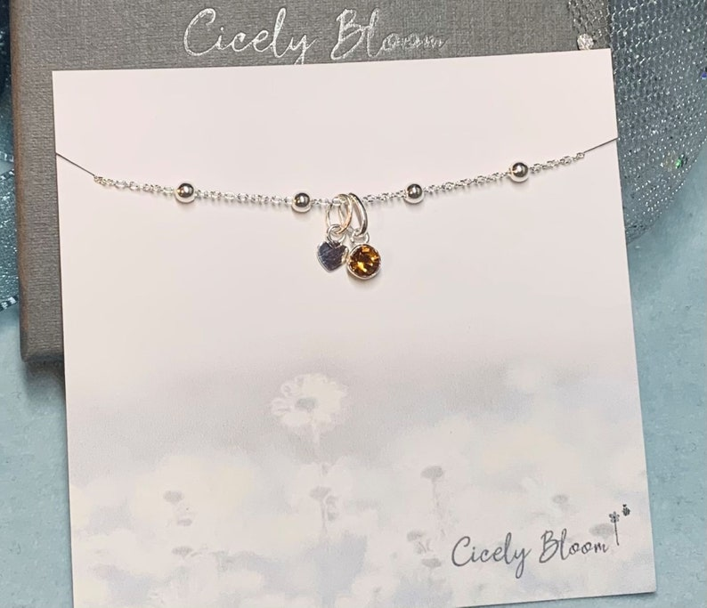 Personalised Birthday Gift for Her June Birthday Gift for Her Sterling Silver Birthstone Bracelet Gemini Gift June Bracelet Gift