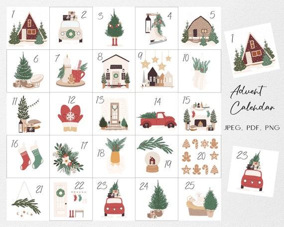 Advent calendar printable Advent calendars for kids Christmas