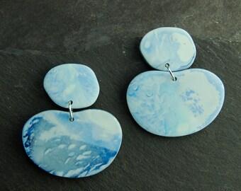 Stormy Skies Beautiful Llanite Sterling Silver Earrings