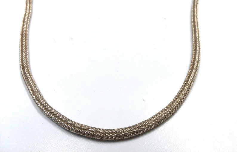 Foxtail Chain Necklace Sterling Silver 925 Suarti Toggle Bali Esate 15 inch Wheat