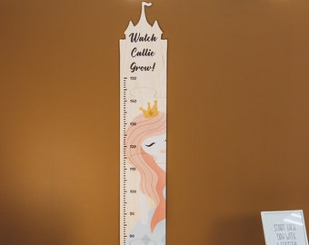 Princess Growth Chart Ruler - Nursery Wall Decor - Personalized Toddler Gift - Baby Room Decor - Measurement Chart Kids - Baby Birthday