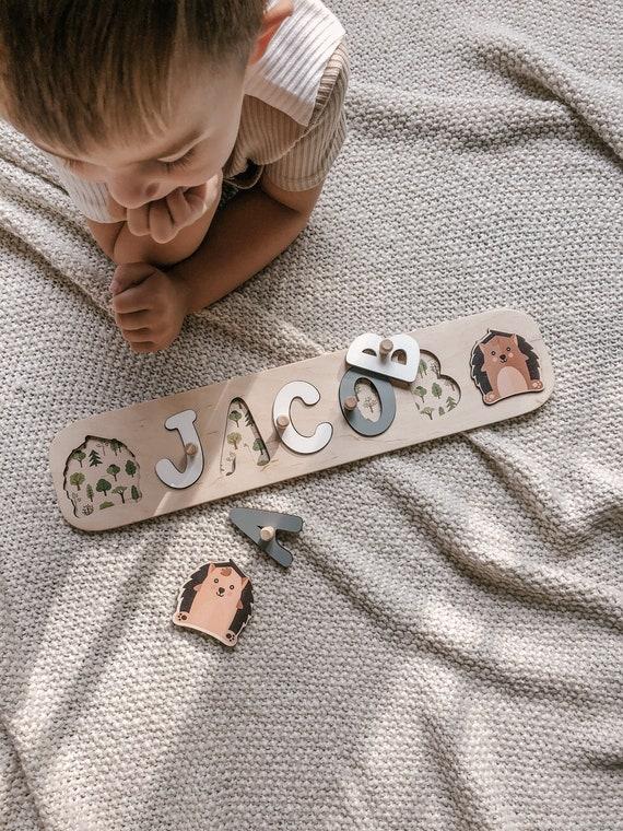 Naam Puzzel voor Peuters Speelgoed Baby Gifts 1e Verjaardag Baby Gift Baby Boy Naam Teken Gepersonaliseerde Gift Montessori Toys Baby Girl Gift voor kinderen