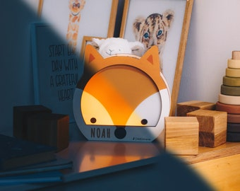 Wodland Nursery Decor - Night Light - Wooden Lamp - Nursery Lamp - Baby Girl Gift - Scandinavian Nursery - Custom Night Light - Personalized
