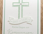 Congratulations card for Communion, Communion card