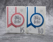 Handmade Birthday Card, Round Birthday, Number Birthday - Stampin'Up!