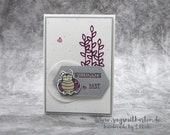 Birth Card, Baby Card, Boy, Girl, Handmade Greeting Card, Stampin' UP!