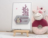 Birth Card, Baby Card, Boy, Girl, Handmade Greeting Card, Stampin' UP!