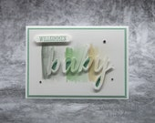Handmade Birth Card, Baby Card, Boy, Girl, Handmade Greeting Card, Stampin' UP!