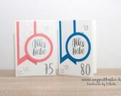 Handmade Birthday Card, Round Birthday, Number Birthday - Stampin'Up!
