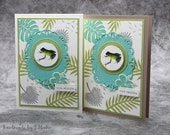 Handmade Birthday Greeting Card, Congratulations Card for Frog Lovers, - Stampin'Up!