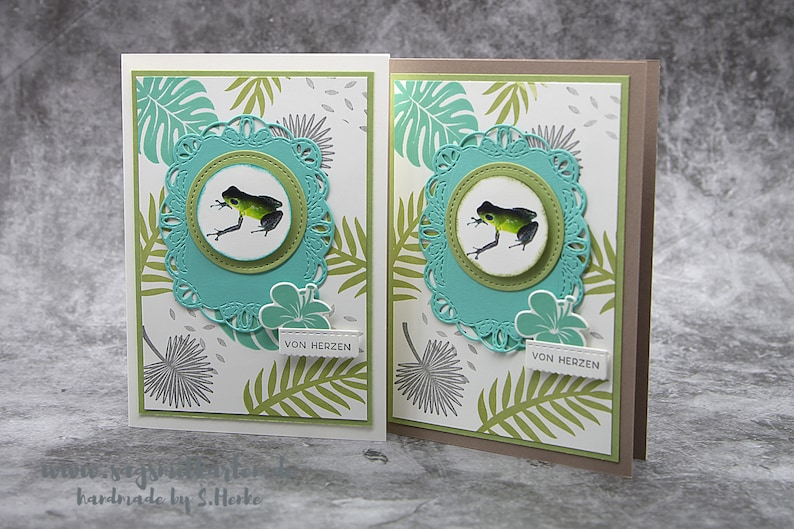 Handmade Birthday Greeting Card Congratulations Card for Frog image 0