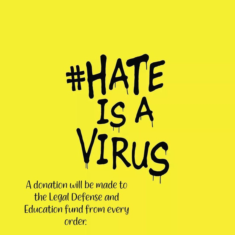 Hate is a Virus Keychain