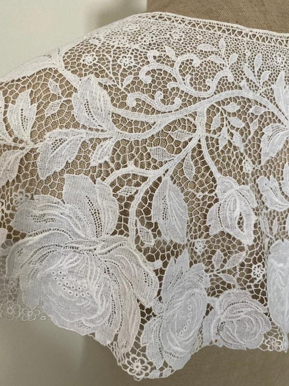 Vintage Rose Lace Collar - image 2