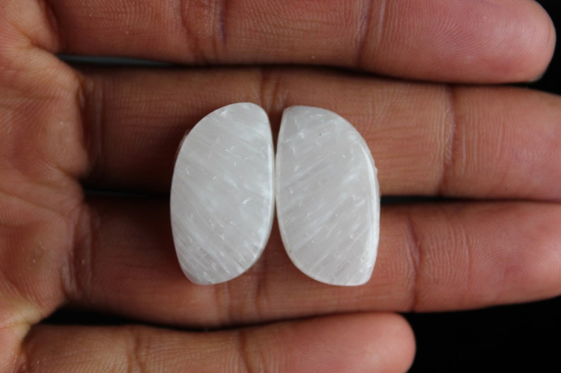 Awesome Scolecite Square Fancy Matching Pair,,27X14X5mm Free Drilling Available
