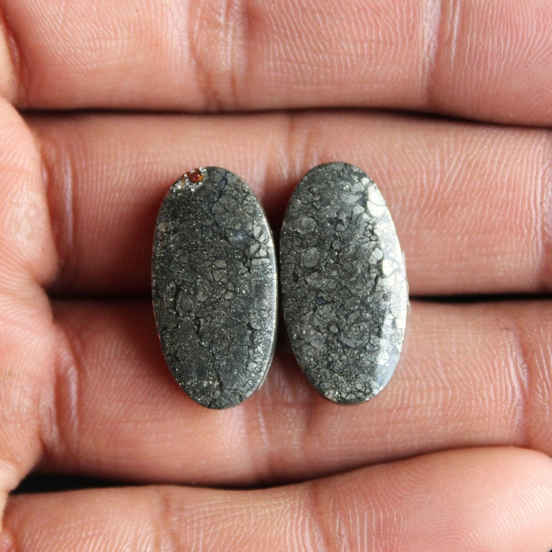 Free Drilling Available Unique Marcasite Oval Shape Matching Pair,,24X12X3mm