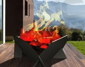 Firepit CNC, warming bucket, warming device DWG_DXF_STEP_PARASOLID, design,production pictures, waterjet