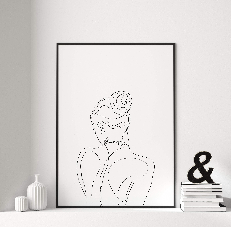 WOMAN LINE DRAWING, Fine Line Art, Boho Abstract Art Women Print, Line Art  Print Woman, One Line Face Drawing, Minimalist Print, Modern Art