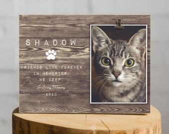Pet Memorial Gift, Loss of Cat Remembrance Sympathy Frame 10.5x8 inches