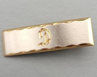 Tie Bar Clip 2.5 Inches Long Riding Crop Tie Clip by Hickok U.S.A. Gold Tone Vintage Equestrian Men/'s Accessory