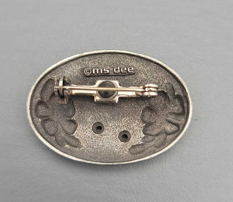 Vintage Pewter Rainbow Pin Brooch  by Ms Dee