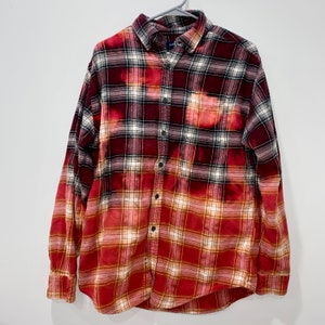 Oversized Flannel with Handmade Bear Patch Indigo Dyed