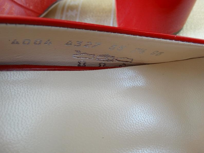 H\u00f6gl Size UK 7.5 Women/'s Pumps Sandals Summer Shoes Genuine Leather Patent Leather Vintage Shoes Heel