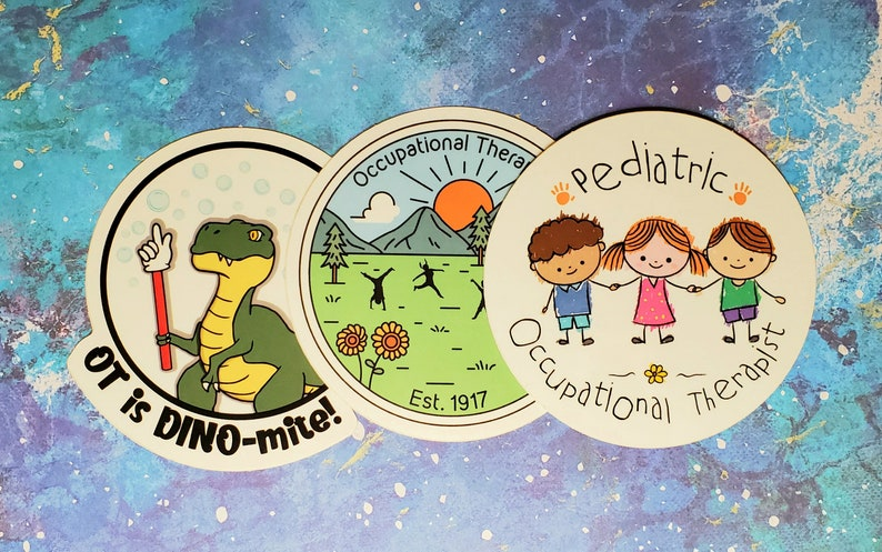 3 Pack  Pediatric OT Stickers image 0