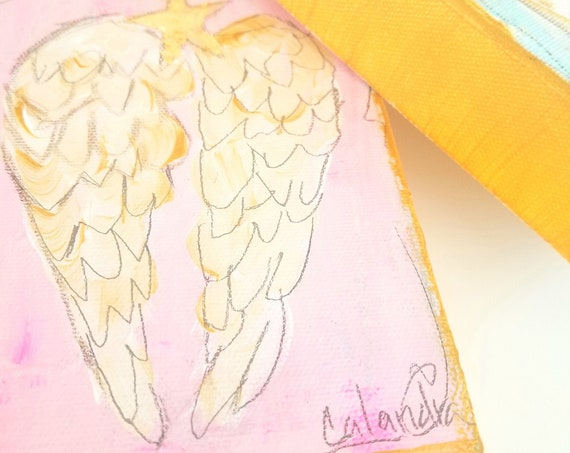 "Pink ""Wings of an Angel"" Painting"