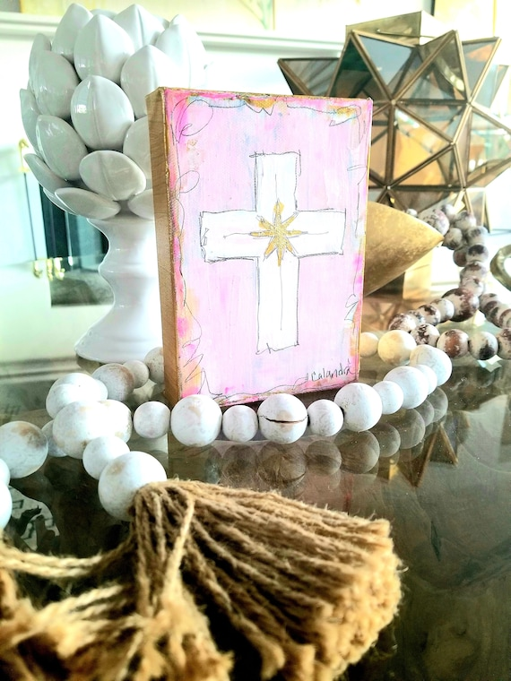 Pink Cross Painting