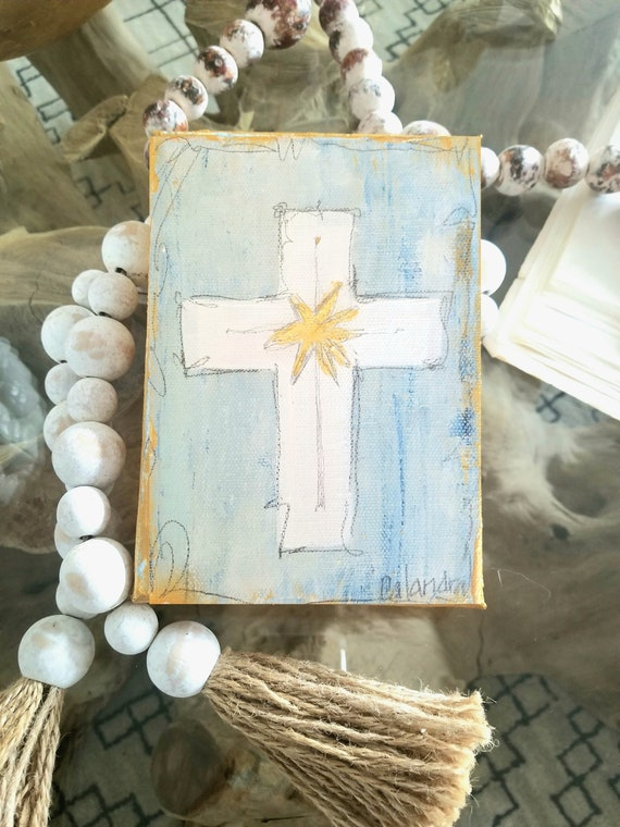 Blue Cross Painting