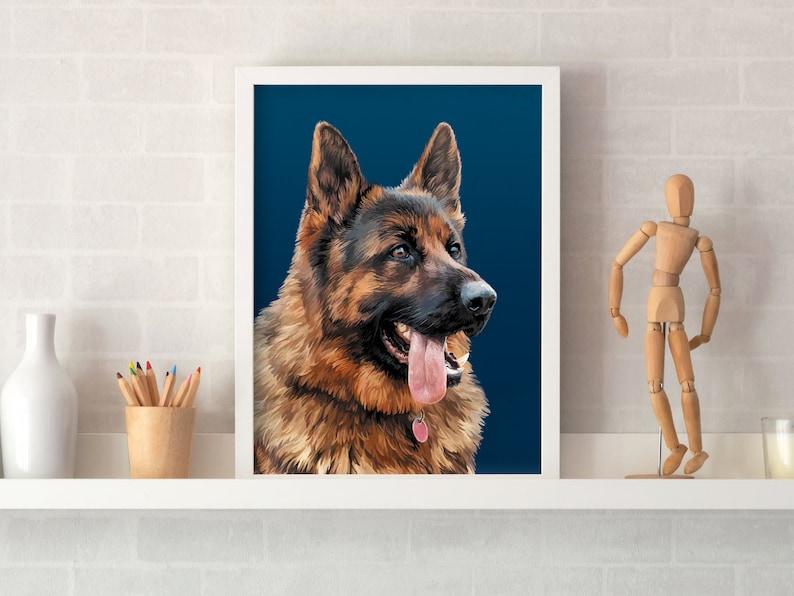 Art from Photo Custom Lab Drawing Pet Portrait Custom Printable Artwork Digital Painting