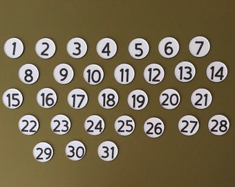 Number Magnets for Magnetic Calendar // Best Seller Magnet Numbers - Cricut Sans