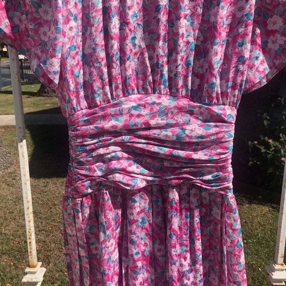 Vintage Ditsy Floral Print Mini Dress - image 2