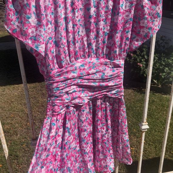 Vintage Ditsy Floral Print Mini Dress - image 4