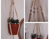 Plant Hanger Four Spiral Macrame Hanger Wall Decor Air Plant Bedroom Wall Decor Boho Indoor Outdoor Mothers Day Home Decor