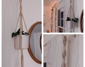 Spiral Plant Hanger Macrame Hanger Wall Decor Air Plant Bedroom Wall Decor Boho Indoor Outdoor Mothers Day Home Decor