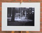 Bike (III) Working Late - Frankfurt  - Original Mounted Darkroom Print