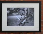 Bike 1   (Abandoned in Frankfurt)  - Original Framed Darkroom Print
