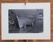 The Old Clinker Boat  - Original Mounted Darkroom Print