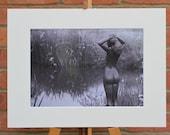 The Pond Maiden  - Original Mounted Darkroom Print