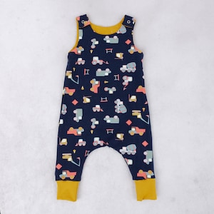 Organic Baby Clothes cute preemie girl clothes sustainable new baby Gift Eucalyptus harem romper stripes toddler jumpsuit