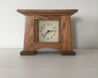 Arts & Crafts Mantel clock,Craftsman Clock