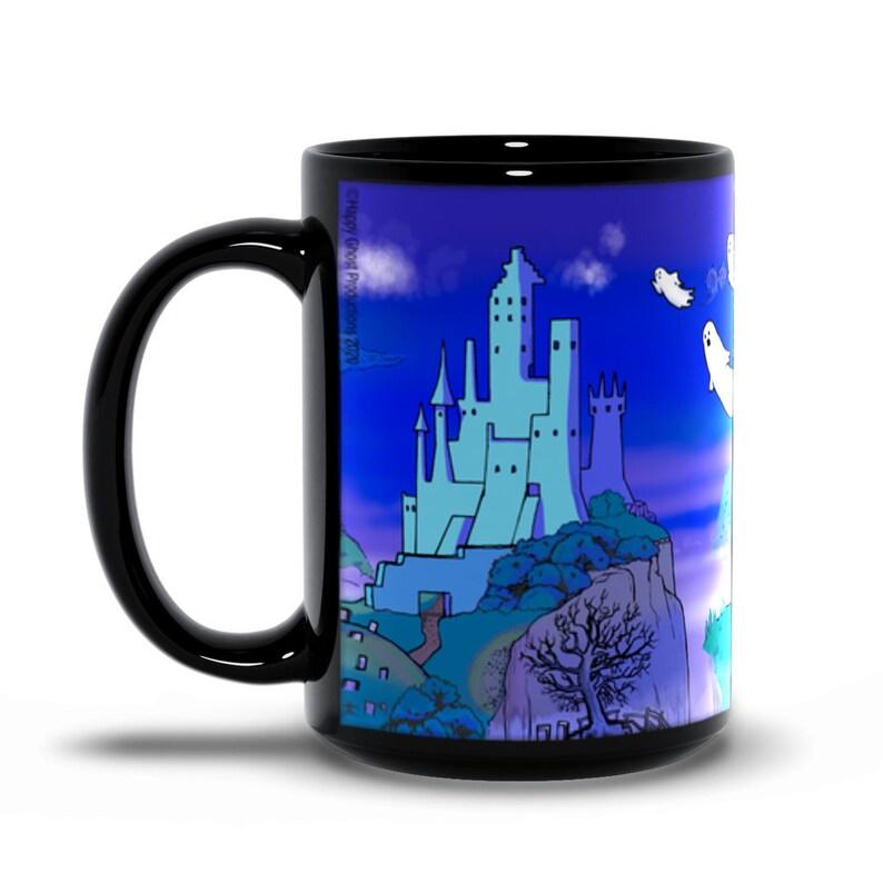 Haunted Ghost Castle 15oz. Coffee & Tea Mug  Happy Ghost image 0