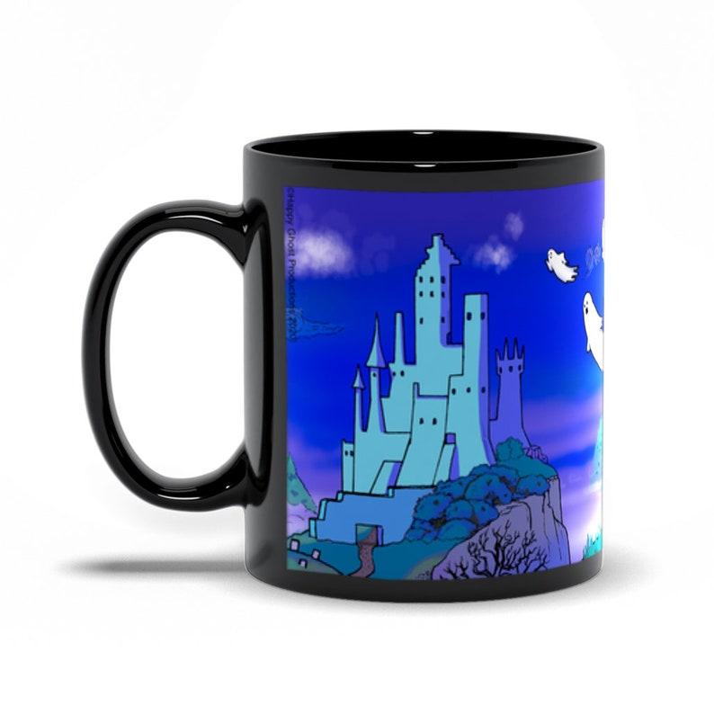 Haunted Ghost Castle 11oz. Coffee & Tea Mug  Happy Ghost image 0