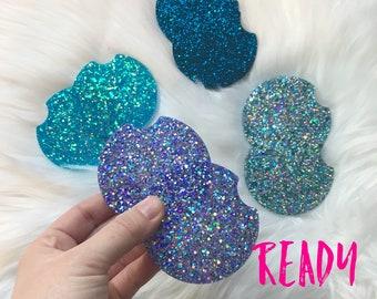 Glitter Car Coaster, Cupholder Coaster Set of 2